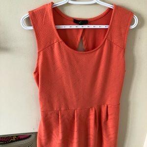 Tangerine coloured summer dress